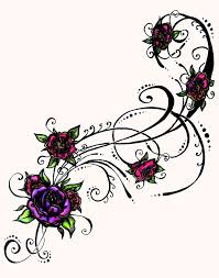 tribal heart and flower tattoo designs collection 65