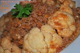 cuisiner un choux fleur chou fleur en sauce a la viande hachee couscous et puddings