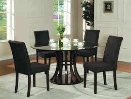 stunning round glass dining table set with white cabinet 3477