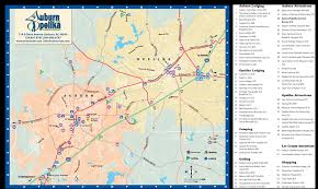 Map Of Alabama Cities Auburn And Opelika City Map Auburn Alabama U2022 Mappery