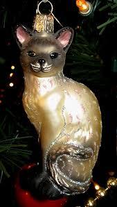 world glass cat ornaments