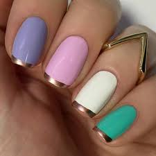 31 cool french tip nail designs colorful nails rose and gold