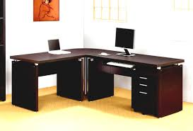 office furniture l shaped desk home office impressive office idea presented with dark brown colored
