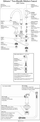 delta kitchen faucet parts diagram plumbingwarehouse com delta kitchen faucet parts for model 2457