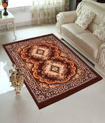 home elite brown traditional design jute filling sheet rug 5 x7