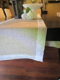 Burlap Lace Table Runner How To Burlap U0026 Lace Table Runners Green Eyed Productions