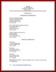 15 resume examples with personal references sendletters info