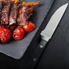 4 piece gourmet forged steak knife gift set with full tang german