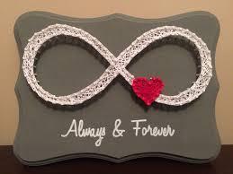 always u0026 forever infinity heart string art simple strings of