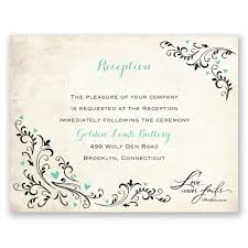 Wedding Registry Cards For Invitations Wedding Reception Invitations U0026 Reception Cards Ann U0027s Bridal