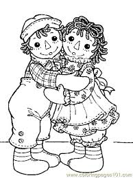 raggedy ann and andy coloring pages aecost net aecost net