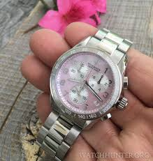 meet the watch victorinox swiss army chrono classic with a pink