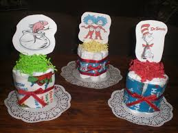 dr seuss baby shower centerpieces mini cake diaper cakes baby