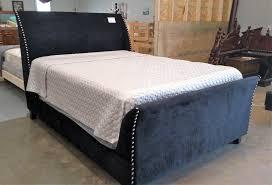 Velvet Sleigh Bed Bargain Box Of Sc Beds Only