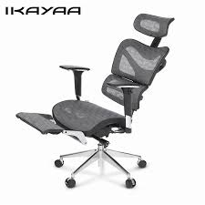 Ergonomic Office Chairs With Lumbar Support Ikayaa Us Stock Mesh Office Chair Swivel Tilt Executive Computer