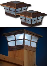 4x4 post cap lights bar harbor 6x6 led solar post cap light solar deck post caps 6x6
