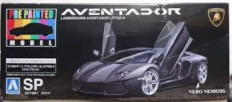 4 door lamborghini aoshima 1 24 model car kit lamborghini aventador lp700 4 matt