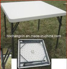 4ft square folding table china selling hdpe blow mould square 4ft foldable table china