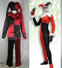 harley quinn jumpsuit costumes casual jumpsuits thigh high clown
