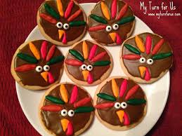 thanksgiving turkey cookies my turn for us