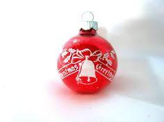vintage ornament pink merry greetings