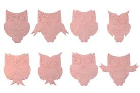 set of 8 hand made mdf owl craft shapes children u0027s bedroom wall