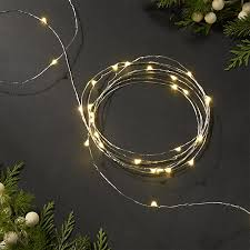 twinkle silver 30 string lights crate and barrel