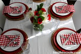 casual valentine u0027s day table setting heidikins cooks