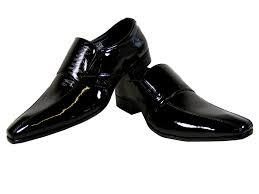 Wedding Shoes Size 9 New Mens Black Patent Formal Slip On Work Loafer Wedding Shoes
