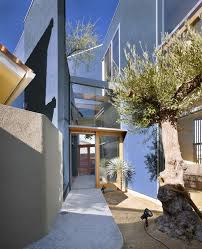 Modern Japanese House by Exterior Design Glass Wall And Ble Concrete Wall Exterior Decor