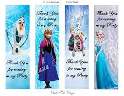 frozen book marks diy printable party favors