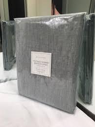 restoration hardware vintage washed belgian linen shower curtain