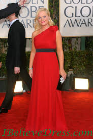 Red Carpet Gowns Sale by Chiffon Amy Poehler One Shoulder Red Golden Globe Gowns For Sale