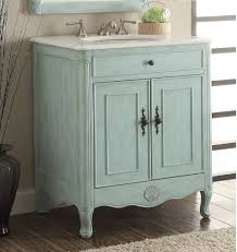 26 inch bathroom vanity cottage coastal beach style vintage blue