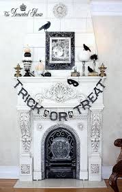 Fireplace Cover Up 18 U0027spooktacular U0027 Halloween Ideas For Your Fireplace Mantel