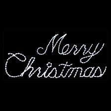 32 in outdoor led white merry sign lighted display