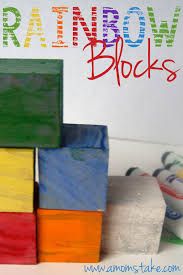 diy rainbow blocks for st patrick u0027s day a mom u0027s take