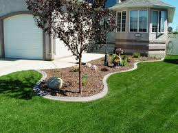 image of lawn edging ideas mulch decorating backyard with three