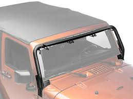 jeep jk light bar brackets rugged ridge wrangler tubular windshield mounted light bar for three