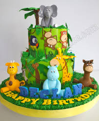 celebrate with cake animal safari jungle cake cake decorating