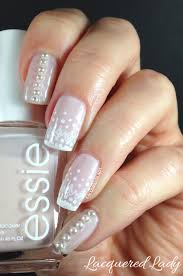 classic nail designs with pearls with photo of pearl nail
