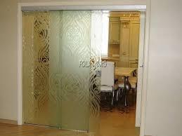 glass door designs sliding glass door for kitchen design with modern glass art
