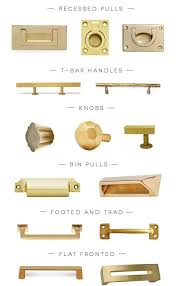 Cabinet Handles For Kitchen Peonies And Brass Brass Obsessed A Hardware Round Up Of The