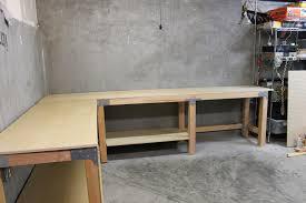 making a corner desk garage workbench workbench construction completed andrews rv
