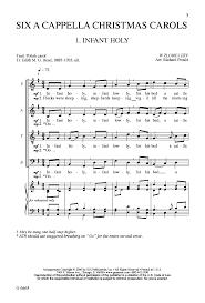six a cappella carols satb singer j w pepper sheet