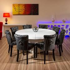 Large Round Dining Table Seats  Kobe Table - Black dining table for 8