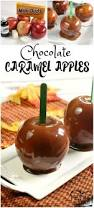halloween candy apple sticks chocolate caramel apples butter with a side of bread