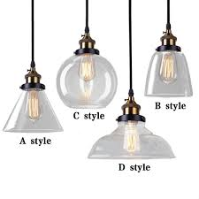 Vintage Pendant Light Retro Vintage Pendant L Loft Pendant Lights Glass Lshade For