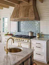 Kitchen Hood Designs White Kitchen With Wood Range Hood Home Kitchen Pinterest