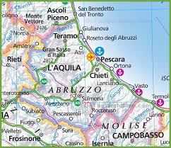 Italy Regions Map by Large Map Of Abruzzo